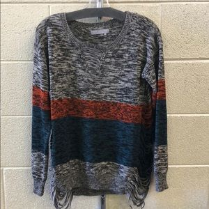 One grey day distressed sweater